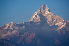 Beautiful view of Himalayan mountains with snow Stock Photography