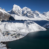 Beautiful view of the Himalayas ang Gokyo from Gokyo Ri Stock Image