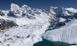 Beautiful view of the Himalayas from Gokyo Stock Images