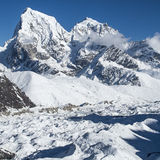 Beautiful view of the Himalayas from Gokyo Ri Royalty Free Stock Photography