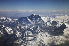 Beautiful view of Himalayas from the plane Royalty Free Stock Image