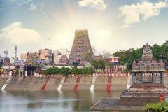 Beautiful view  Hindu Kapaleeshwarar Temple,chennai, Tamil Nadu,. Beautiful view of colorful gopura in the Hindu Kapaleeshwarar Temple,chennai, Tamil Nadu, South Royalty Free Stock Photo