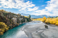 Beautiful view from the Historic Bridge over Shotover River Stock Photography
