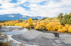 Beautiful view from the Historic Bridge over Shotover River Royalty Free Stock Photo