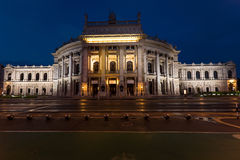 Beautiful view of historic burgtheater imperial court theatre Royalty Free Stock Photos