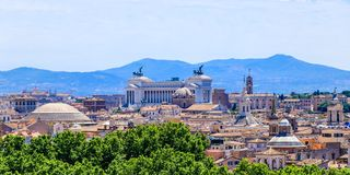 Aerial scenic view of Rome in summer, Italy stock images
