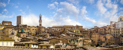 Beautiful view of the historic city of Siena, Italy Royalty Free Stock Photography