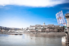 Beautiful view of historic Royal Palace in Budapest Stock Photography