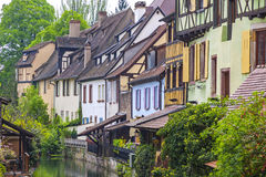 Beautiful view of historic town of Colmar, Alsace region, France Stock Photos