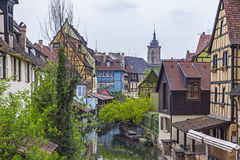 Beautiful view of historic town of Colmar, Alsace region, France Stock Photo