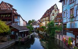 Beautiful view of the historic town of Colmar Stock Images