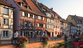 Beautiful view of the historic town of Colmar Stock Photos