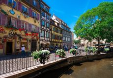 Beautiful view of the historic town of Colmar, also known as Little Venice, France. Beautiful view of the historic town of Colmar, also known as Little Venice Stock Image