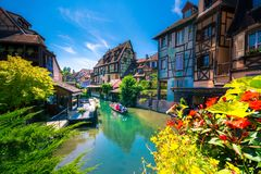 Beautiful view of the historic town of Colmar, also known as Little Venice, France. Beautiful view of the historic town of Colmar, also known as Little Venice Royalty Free Stock Photo