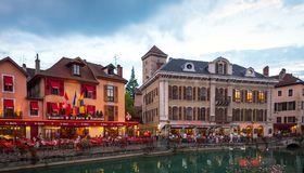 Beautiful view of the historic town of Colmar Royalty Free Stock Photo