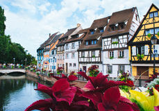 Beautiful view of historic town of Colmar. stock images