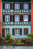 Beautiful view of the historic town of Strasbourg, colorful houses on idyllic river. Strasbourg, France royalty free stock photography