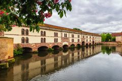 Beautiful view of the historic town of Strasbourg, colorful hous royalty free stock photography