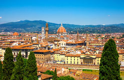 Beautiful view of historical part of the city of Florence Stock Photos