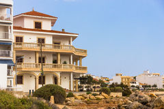 Beautiful view of hotel resorts on Mallorca Royalty Free Stock Photos