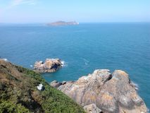 Beautiful view from Howth hiking trail Stock Image