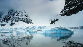 Beautiful view of icebergs in Antarctica royalty free stock photo