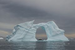 Beautiful view of icebergs in Antarctica Royalty Free Stock Images