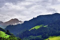 Stunning alpine landscape in canton Uri, Switzerland Royalty Free Stock Images