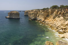Beautiful view of an idyllic wild beach Stock Photos