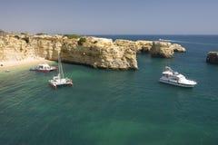 Beautiful view of an idyllic wild beach Royalty Free Stock Photography