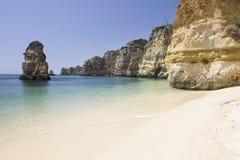 Beautiful view of an idyllic wild beach Royalty Free Stock Image