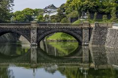 Beautiful view of the Imperial Palace park in Chiyoda district of Tokyo, Japan stock images