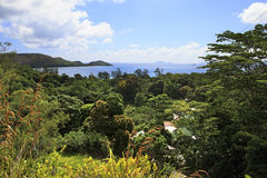 Beautiful view of the Indian Ocean from mountains Royalty Free Stock Photos
