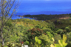 Beautiful view of the Indian Ocean from mountains Stock Photos