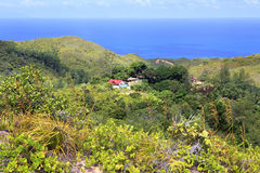 Beautiful view of the Indian Ocean from mountains Royalty Free Stock Photo