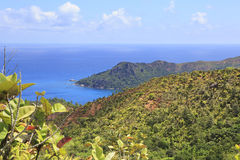 Beautiful view of the Indian Ocean from mountains Royalty Free Stock Photography