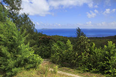 Beautiful view of the Indian Ocean from mountains Stock Photo