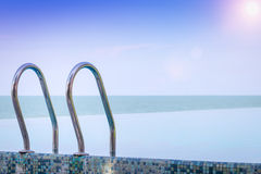 Beautiful view of Infinity Swimming Pool Stock Photography