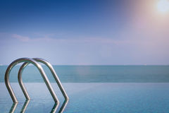 Beautiful view of Infinity Swimming Pool Royalty Free Stock Images