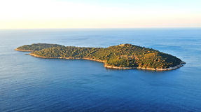 Beautiful view of an island in Adriatic sea Stock Photos