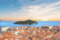 Beautiful view of the island of Lokrum near the historic city of Dubrovnik, Croatia Stock Photo