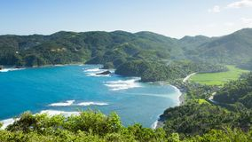 Beautiful view of the island from view point in Philippines royalty free stock photos