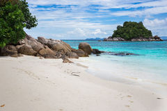 Beautiful view of island, Sunrise beach, Lipe, Thailand Royalty Free Stock Photo