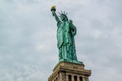 Beautiful view  Statue of Liberty. Liberty Island in New York. Harbor in New York.  royalty free stock photos