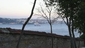 Beautiful view of the Istanbul bosphorus stock footage