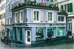 Beautiful view, ity the spring season, street atmosphere. Luzern, Switzerland, Mart 10, 2017 - Beautiful view, ity the spring season, street atmosphere, travel stock photography