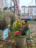 Beautiful view, ity the spring season, street atmosphere. Luzern, Switzerland, Mart 10, 2017 - Beautiful view, ity the spring season, street atmosphere, travel stock images