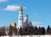 Beautiful view of Ivan the Great Bell Tower in sunny winter day Stock Image