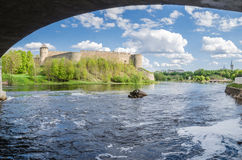 Beautiful view of the Ivangorod Fortress Stock Images