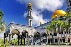 Beautiful View of Jame Asr Hassanil Bolkiah Mosque and blue sky. Royalty Free Stock Images